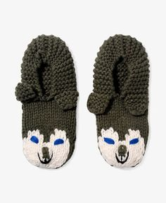 Knit Wolf Slippers #forever21 #giftspiration