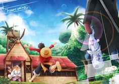"""THIS IS THE CUTEST THING AND I WANT IT TO HAPPEN SOOO BAD!!!! //""""Home coming"""" One Piece, ASL, Luffy, Sabo, Dadan"""