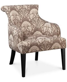 Tinsley Botanical Accent Chair, Direct Ship - Shop All Living Room - Furniture - Macy's