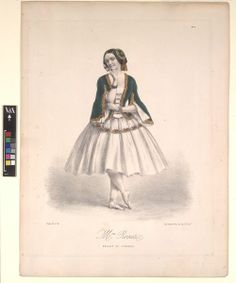 Carolina Rosati costumed as Médora for the original production of the ballet Le Corsaire, which premiered at the Théâtre de l'Impérial de l'Opéra in Paris. Jerome Robbins, Dancer Photography, Vintage Ballet, Ballerina Costume, Circus Costume, Gold Jacket, 1800s Fashion, New York Public Library, Fashion Plates