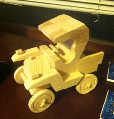 Handmade Wooden Model T Pickup Truck