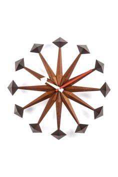 The Sicily Mid-Century Brown Clock on @HauteLook