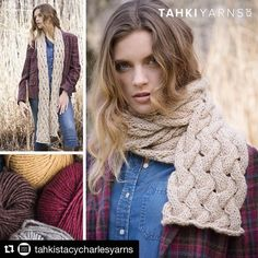 It's been hard to wait for this collection to release loved the photo shoot for @tahkistacycharlesyarns fall2016. ............ #galezuckerphotography #knitwearfashion  #Repost @tahkistacycharlesyarns with @repostapp  The Rustic Scarf goes with everything and is always in style. Knit in Tahki Yarns new ARLINGTON  a blend of fine merino wool superfine alpaca and acrylic. Rustic is the star of our Knit Country Collection which is available for preorder now.  #fashion #yarn #pattern #yarnlove…