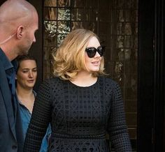 Adele NYC leaving hotel