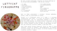 Deilig lettvint fiskesuppe! Bruk det du har for hånden av rotgrønnsaker! Lykke til! Pepper, Vegetables, Food, Essen, Vegetable Recipes, Meals, Yemek, Veggies, Eten