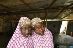 CHAD, Baga Sola: Nigerian Muslim refugee young women look on in a United Nations Refugee Agency (UNHCR) refugee camp in Baga Sola by Lake Chad, which borders Chad, Nigeria, Niger and Cameroon, on...
