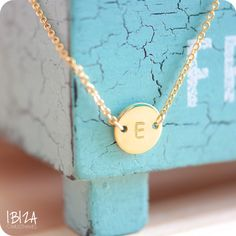 Lucky Coin Initial ♡ available at www.ibizamusthaves.nl