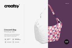 Crescent Bag Mockup Set by Creatsy on @creativemarket