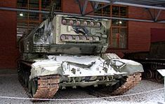 """1K17 Szhatie laser """"tank"""". Beginning development in the late 1970s on a modified 2S19 Msta-B chassis, this vehicle's lasers battery were meant to disrupt NATO laser guided munitions and vehicle rangefinders. Technical problems and cost issues dogged the design, and it was cancelled after the Soviet Union collapsed."""