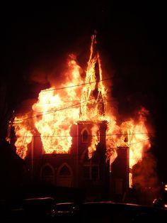burning church norway - Google Search