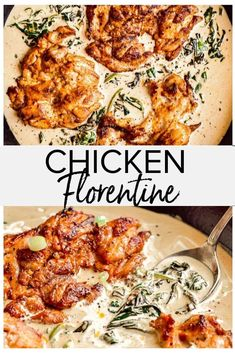 This delicious chicken Florentine recipe is perfect for an easy weeknight dinner, but fancy enough to serve to guests. Ready in 40 minutes, the chicken is served in a creamy spinach sauce for a rich and hearty meal. dinner recipes for two Easy Weeknight Dinners, Easy Meals, Creamy Spinach Sauce, Florentines Recipe, Fancy Dinner Recipes, Dinner Ideas For Guests, Chicken Recipes Video, Chicken Spinach Recipes, Recipe Chicken