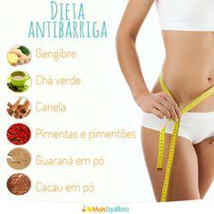 Conheça alguns alimentos que ajudam a queimar a gordurinha abdominal e inclua-os no seu cardápio diário! http://maisequilibrio.com.br/beleza/dieta-antibarriga-6-1-5-606.html