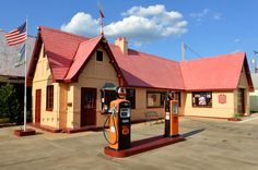 The Route 66 Visitors' Center in Baxter Springs occupies a circa-1930 gasoline station which sold Phillips Petroleum products until 1958. In 2005, after several changes of ownership, the property was obtained by the Baxter Springs Historical Society and restored to its 1940s appearance.    The transformation was financed by private donors, as well as a grant from the National Park Service.