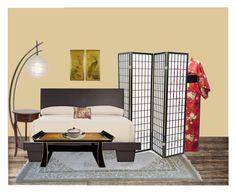 """Asiatique"" by piloneugenie on Polyvore featuring interior, interiors, interior design, maison, home decor, interior decorating, Safavieh, Home Decorators Collection et H. Hal Kramer Co."