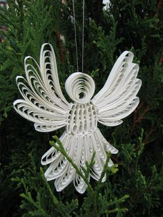 Paper Quilled Christmas Angel by NatureMaidTreasures on Etsy