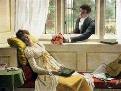Edmund Leighton - Sweets to the Sweet (1893)