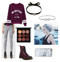 """""""~Comfy/Cute~"""" by daydreaminginthedark ❤ liked on Polyvore featuring Dr. Martens, DANNIJO, AllSaints, WithChic, Zero Gravity and MAC Cosmetics"""