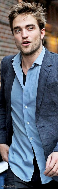 Rob always looks so good in blue