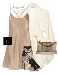 Untitled #3521 by kimberlythestylist on Polyvore featuring polyvore fashion style Fleur du Mal Harrods Jimmy Choo Chanel clothing
