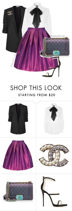 """""""Untitled #3183"""" by stylebydnicole ❤ liked on Polyvore featuring Helmut Lang, Polo Ralph Lauren, Chanel and Giuseppe Zanotti"""