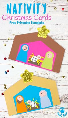 Nativity Christmas Cards This Christmas Card Nativity Craft is adorably cute and easy to make with the free printable template. A lovely Christmas craft for preschoolers and Sunday school. Preschool Christmas Crafts, Nativity Crafts, Holiday Crafts, Holiday Activities, Christmas Card Template, Diy Christmas Cards, Kids Christmas, Christmas Nativity, Christmas Flyer
