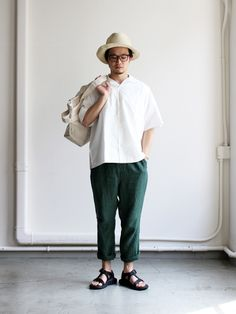 ohh! nisica イージーパンツ -LINEN Japan Fashion, Boy Fashion, Mens Fashion, Fashion Outfits, Japanese Street Fashion, Korean Fashion, Japanese Men, Japanese Outfits, Ankle Pants