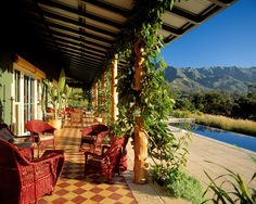 Natural Home Design with Amazing Interior Design: Fascinating Classic Porch With Stunning View Sycamore Canyon