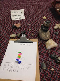 How many rocks can you stack? Provocation | wondersinkindergarten