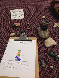How many rocks can you stack? Provocation   wondersinkindergarten