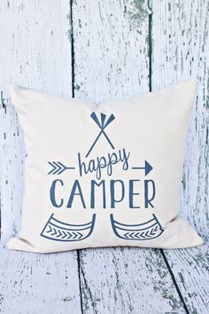 This pillow is perfect for the happy camper in your life! Great for adding some fun style to any room! This 18 X 18 pillow has a concealed zipper along