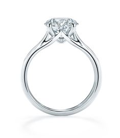"""what a lovely profile; Mappin & Webb """"Ena Harkness"""" engagement ring (£32,250)."""