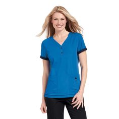 If you're working in Childcare and looking for the perfect work uniform you should try the Orange Standard Monterey Top. It's super soft, easy to wash and features a number of handy pockets. £19.99 at Happythreads. #childcare  #medicalscrubs #nursescrubs #dentistscrubs #nurses #dentists #bluescrubs #nurseuniform