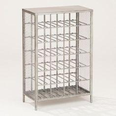 One of my favorite discoveries at WorldMarket.com: 24-Bottle  Loft Metal Wine Rack