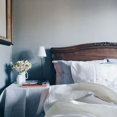 Worsted by Farrow & Ball Styling the Seasons ~ April Bedroom Color Schemes, Bedroom Colors, Colour Schemes, Bedroom Decor, Bedroom Retreat, Bedroom Ideas, Farrow And Ball Bedroom, Farrow And Ball Paint, Farrow Ball