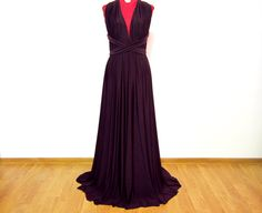 Maxi Backless Multiway Purple Dress by AtelierAncaGrigoras on Etsy Purple Dress, Backless, Formal Dresses, Trending Outfits, Unique, Etsy, Clothes, Vintage, Fashion