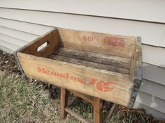 Vintage Soda crate by thevrose on Etsy
