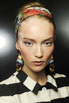 #KatyaRiabynikina #backstage @ Dolce & Gabbana Fall 2013, #MFW