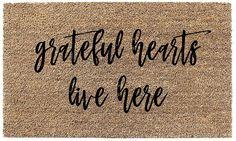 Grateful Hearts Coir Doormat