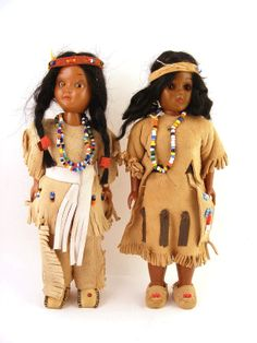 Native American Indian Dolls Squaw with Papoose Set of 2. Available at: www.TidBitz.com, $25.00
