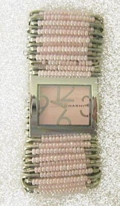Pastel Pink Safety Pin Watch by SafetyPinWatches on Etsy, $20.00