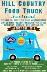 Hill Country Food Truck Festival Fredericksburg @ Luckenbach Texas - August 2nd 2014 12:00 pm