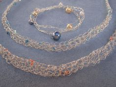 wire crochet necklaces