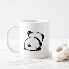 Anti-Social Panda Bear Leave Me Alone Mug - home gifts ideas decor special unique custom individual customized individualized Cute Coffee Mugs, Cute Mugs, Funny Mugs, Coffee Cups, Tween Girl Gifts, Mug Art, Painted Mugs, Personalized Cups, Deco Table