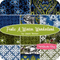 Frolic A Winter Wonderland Fat Quarter Bundle Jason Yenter for In The Beginning Fabrics - Fat Quarter Shop