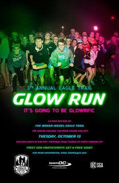 Glow Run Poster