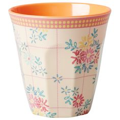 Rice DK Embroidered Flower Print Two Tone Melamine Cup | BellaKoola - Curated Design Gifts & Lifestyle – bellakoola - Cool Design & Lifestyle Shop