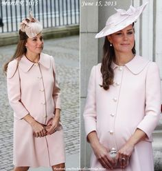 """The Duchess of Cambridge repeats pale pink outfit by Alexander McQueen for Commonwealth Day service."""
