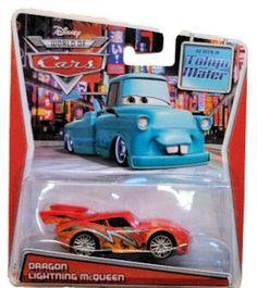 Amazon.com: Disney Pixar Cars, Toon Die-Cast, Dragon Lightning McQueen, 1:55 Scale: Toys & Games