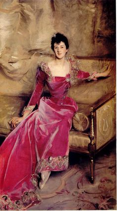Mrs Hugh Hammersley in 1892 by Sargent. Mrs. Ham, as she was called by the Mitford girls, was once overheard telling her dog- 'I worship your body.' The expression was carried on by Debo, the now dowager Duchess of Devonshire, applying it to anything she happened to like.
