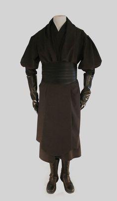 Star Wars Darth Maul Full Black Tunic Costume Belt Boots Accessory Halloween